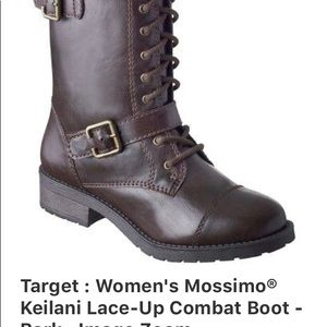 Mossimo  Supply' co , woman combat brown  booth